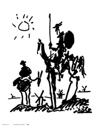 Don Quixote Poster by Pablo Picasso for $8.75 CAD