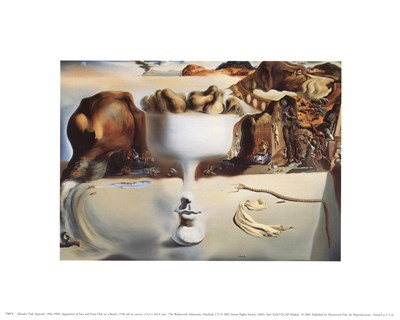 Apparition of Face and Fruit Dish on a Beach, c.1938 Poster by Salvador Dali for $8.75 CAD