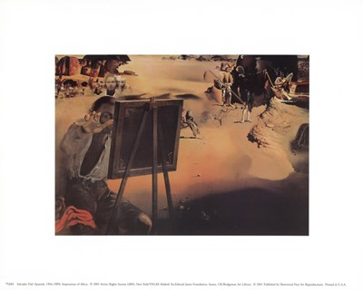 Impressions of Africa, c.1938 Poster by Salvador Dali for $8.75 CAD