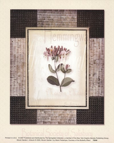 Woven Garden I Poster by Marie Frederique for $8.75 CAD