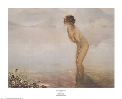 September Morn Poster by Paul Chabas for $40.00 CAD
