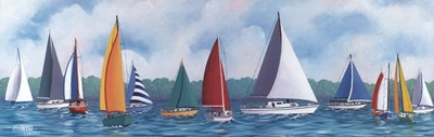 Regatta Sailboats Poster by Unknown for $27.50 CAD