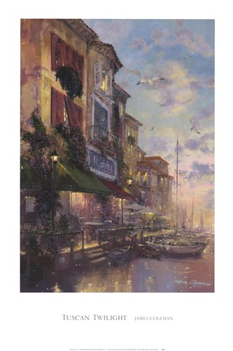Tuscan Twilight Poster by James Coleman for $43.75 CAD