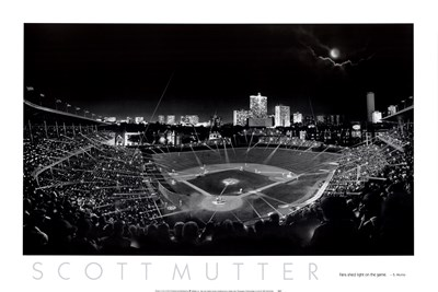 Wrigley Field Poster by Scott Mutter for $43.75 CAD