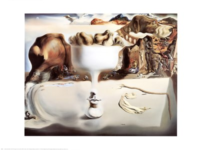 Face And Fruit On A Beach Poster by Salvador Dali for $40.00 CAD
