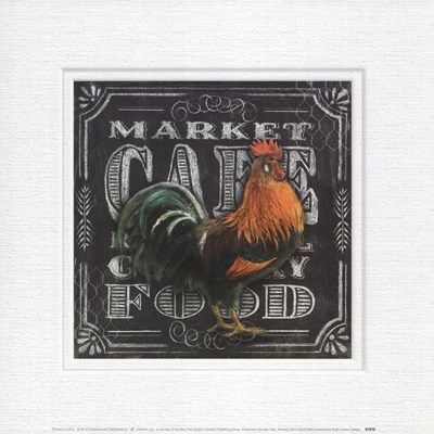 Chalkboard Rooster Cafe Poster by Geoff Allen for $18.75 CAD