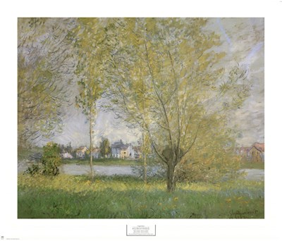 Willows Of Vetheuil Poster by Claude Monet for $40.00 CAD