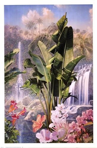 Tropic Waterfalls Poster by Mural Arts for $40.00 CAD