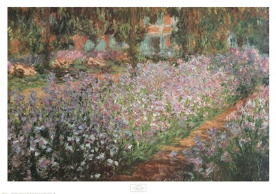 Artist's Garden At Giverny, 1900 Poster by Claude Monet for $37.50 CAD