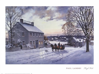 Sleigh Ride Poster by Paul Landry for $40.00 CAD