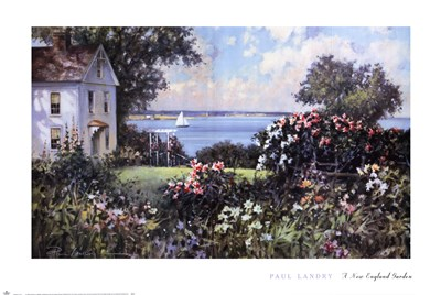 A New England Garden Poster by Paul Landry for $40.00 CAD