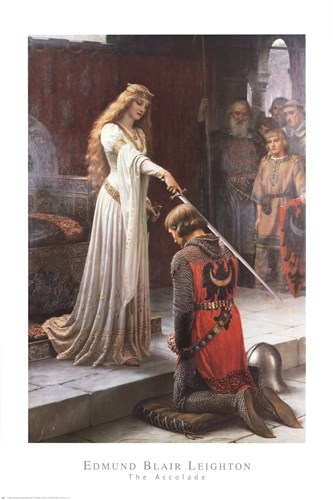 The Accolade Poster by Edmund Blair Leighton for $40.00 CAD