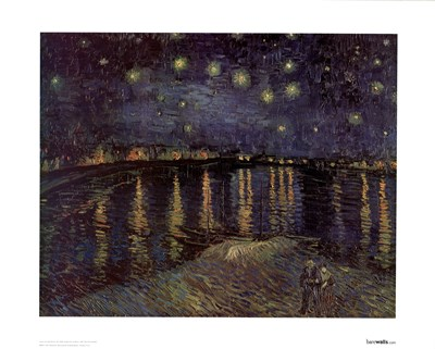 Starlight Rhone Poster by Vincent Van Gogh for $17.50 CAD