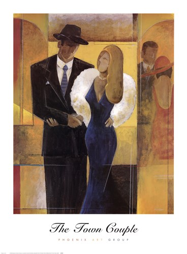 The Town Couple Poster by Knight for $55.00 CAD