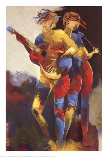 Artist Duet Poster by Len Abbott for $52.50 CAD