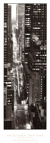 47th Street Evening Poster by Jim Alinder for $35.00 CAD