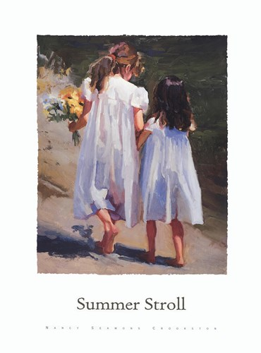 Summer Stroll Poster by Nancy Seamons Crookston for $37.50 CAD
