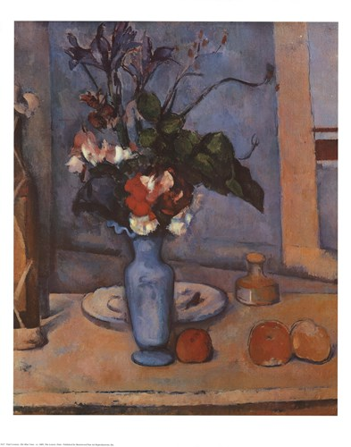 The Blue Vase Poster by Paul Cezanne for $25.00 CAD