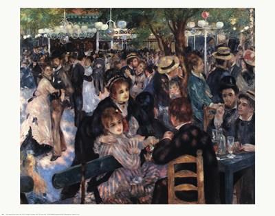 Ball At the Moulin De La Galette Poster by Pierre-Auguste Renoir for $20.00 CAD