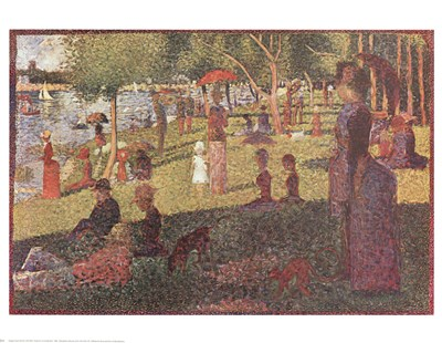 Study for 'Sunday on La Grande Jatte' Poster by Georges Seurat for $25.00 CAD