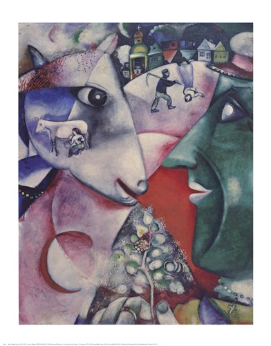 I and the Village Poster by Marc Chagall for $25.00 CAD