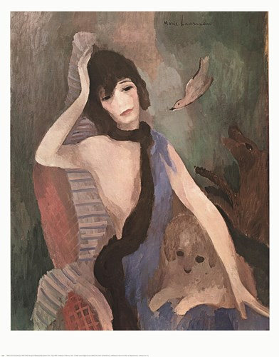 Mlle Chanel Poster by Marie Laurencin for $20.00 CAD