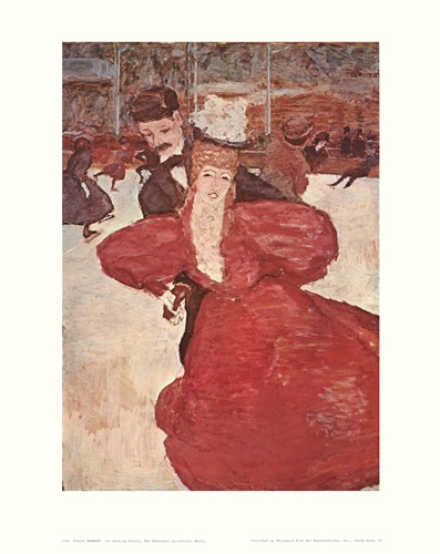 Ice Skating Palace Poster by Pierre Bonnard for $25.00 CAD