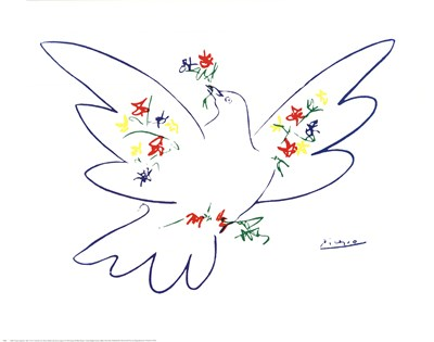 Colombe Avec Fleurs Poster by Pablo Picasso for $20.00 CAD