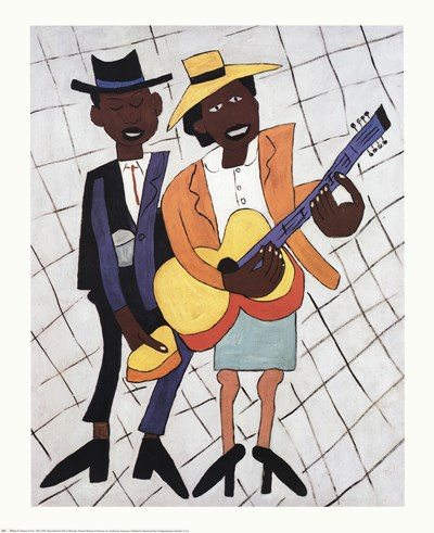 Street Musicians Poster by Johnson for $20.00 CAD