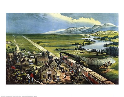 Across the Continent Poster by Currier and Ives for $25.00 CAD