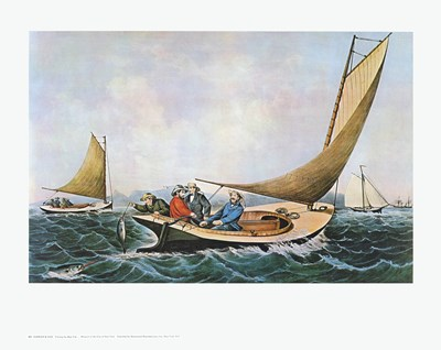 Trolling for Bluefish Poster by Currier and Ives for $25.00 CAD