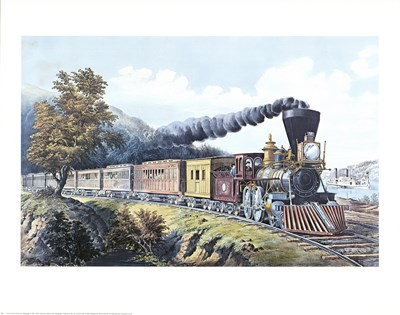 American Express Train Poster by Currier and Ives for $25.00 CAD
