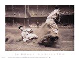 Joe DiMaggio Sliding Into Third