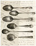 Cutlery Spoons In Sepia
