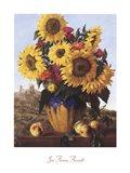 Sunflowers Over Castle Ruin