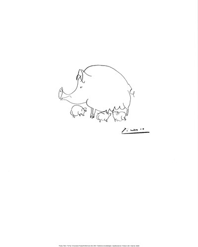 The Pig Poster by Pablo Picasso for $18.75 CAD