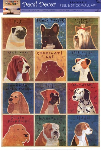 One Dozen Dogs Poster by WALL DECAL for $48.75 CAD