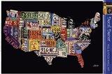 USA License Map