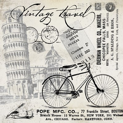 Vintage Travel Italia I Poster by Andrea Haase for $67.50 CAD