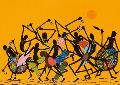 African Dance Poster by Timothé Kodjo Honkou for $51.25 CAD