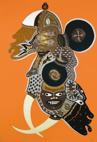 African Masks II Poster by Timothé Kodjo Honkou for $50.00 CAD