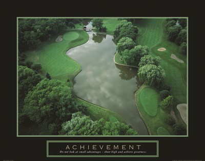 Achievement - Golf Course Poster by Unknown for $95.00 CAD