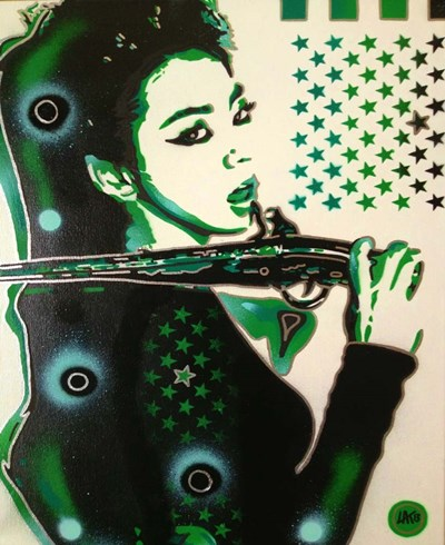 Asia Green Poster by Abstract Graffiti for $38.75 CAD