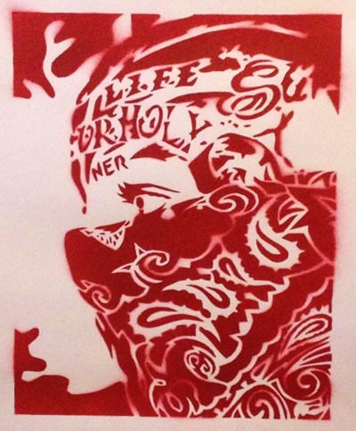 Bandana Man Red Poster by Abstract Graffiti for $38.75 CAD