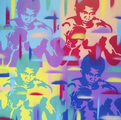 Abstract Boxer Poster by Abstract Graffiti for $45.00 CAD
