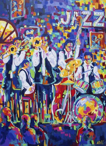 New Orleans Club Jazz Poster by ADEL for $42.50 CAD