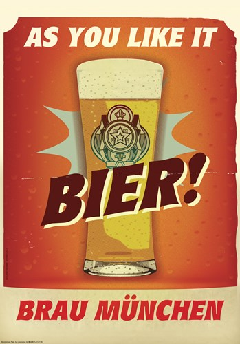 Bier Brau Munchen Poster by American Flat for $38.75 CAD