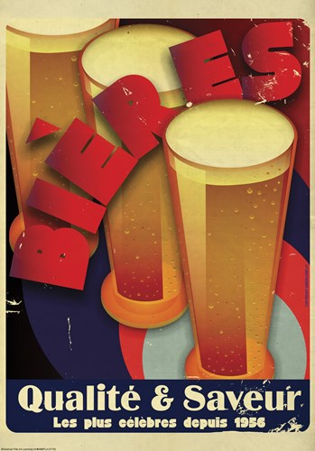 Bieres Qualite & Saveur Poster by American Flat for $38.75 CAD