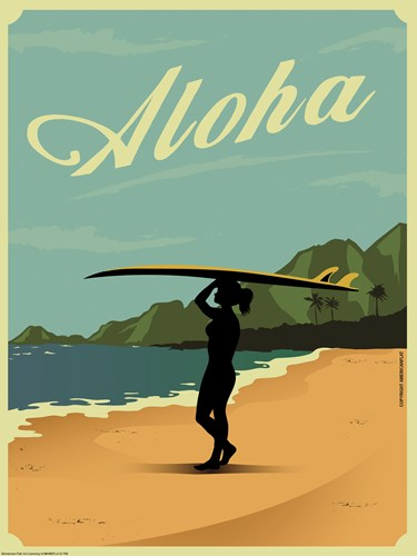 Aloha Poster by American Flat for $41.25 CAD
