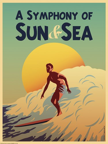 A Symphony of Sun & Sea Poster by American Flat for $41.25 CAD